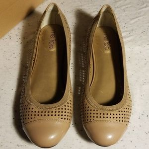 Me Too perforated faux leather flats size 8.5